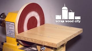 How to convert the lathe into a DIY disc sander