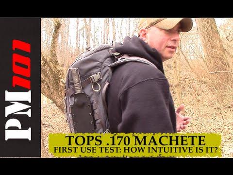 TOPS .170 Machete: First Use Test - Preparedmind101