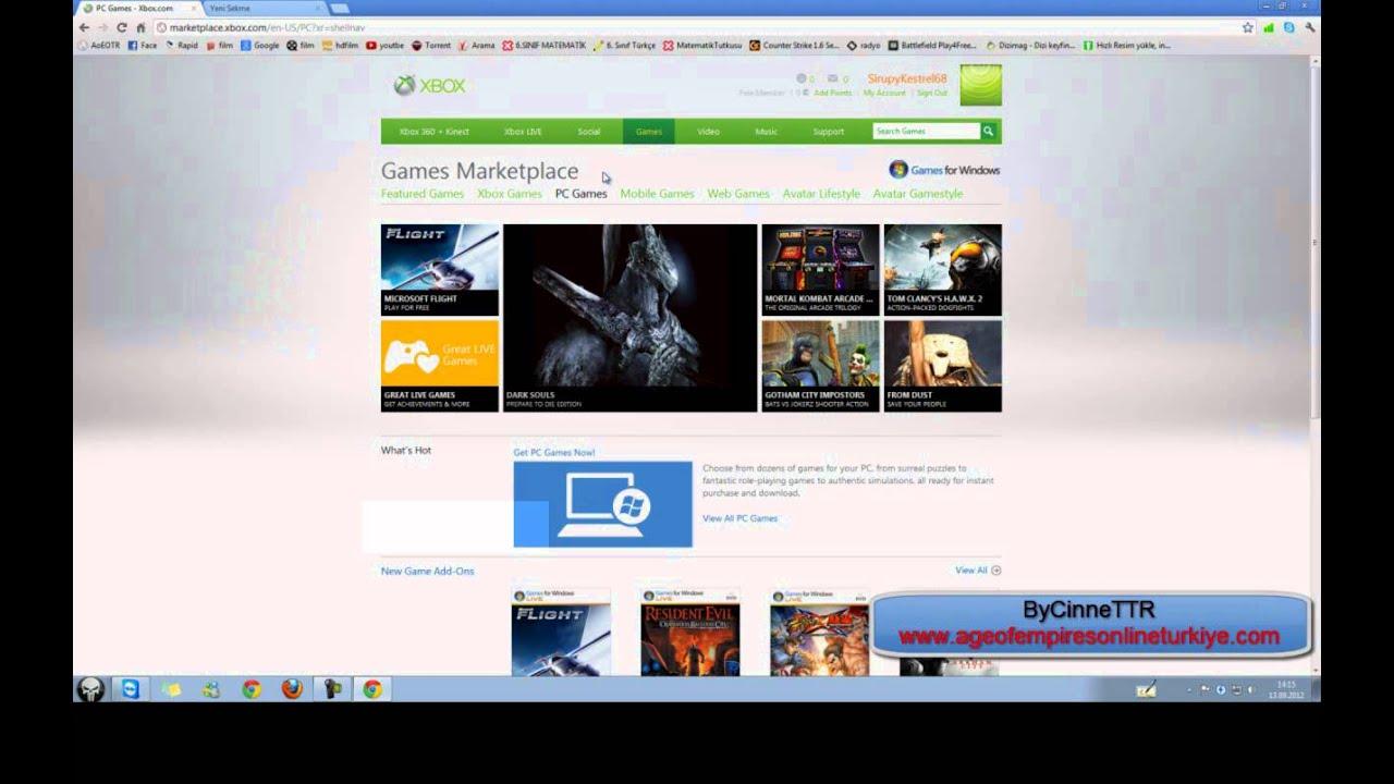 Xbox Live Kayıt Olma Game For Windows Indirme Youtube