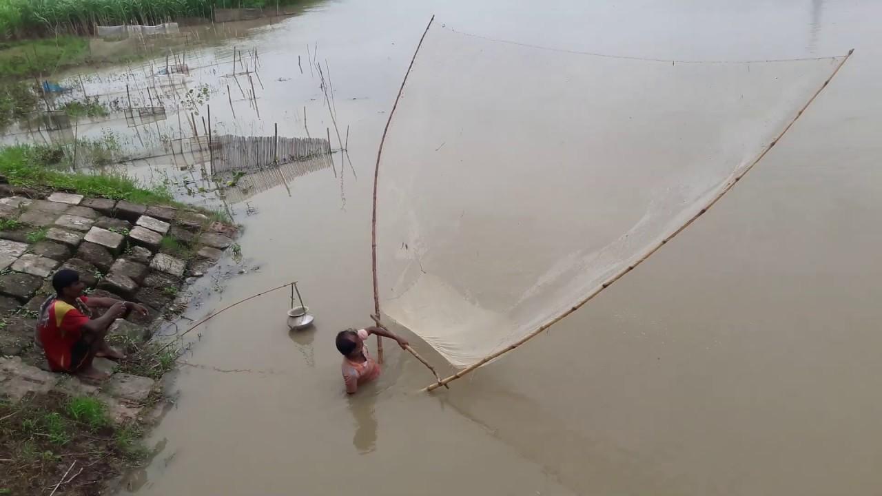 বড়াল ব্রিজে ছিটকি জাল দিয়ে মাছ শিকার | Fishing Under Baral Bridge By Sitki Net | Fish Video| Fishing
