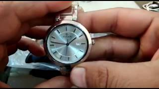 Titan Ladies Neo-Ii Analog Silver Dial Women's Watch-2480SM07 - Unboxing