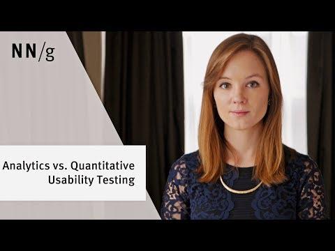Analytics vs. Quantitative Usability Testing