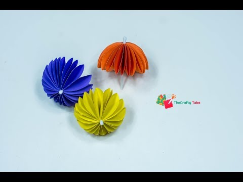 Paper Umbrella || How to Make an Amazing Umbrella || Kids Rooms Decor || DIY || Easy Craft Tutorial