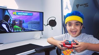 My 6 Year Old Little Brother Plays Like Ninja On FORTNITE!