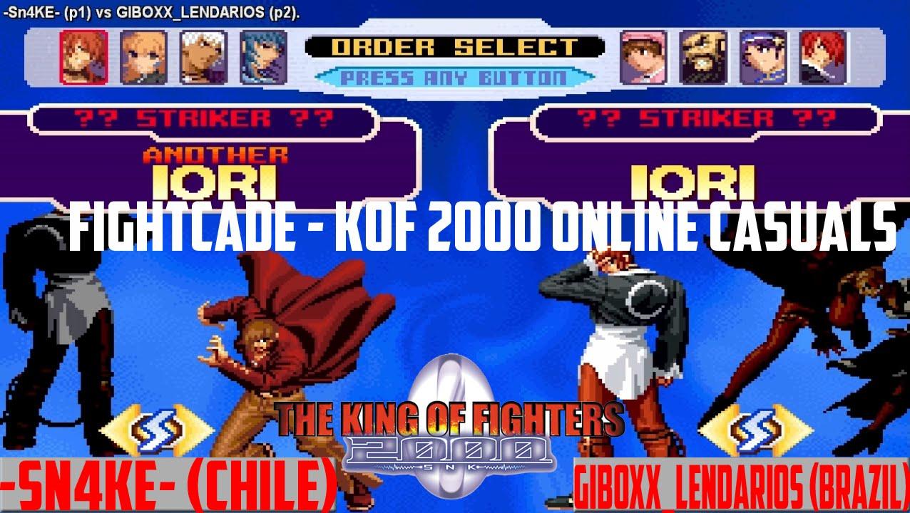 [Fightcade HD] - -Sn4ke- (CHL) vs  GIBOXX_LENDARIOS (BRAZIL) - KOF 2000  Online Casuals
