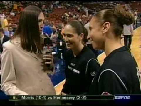 2005 WNBA ASG Diana Taurasi Sue Bird pre-game interview