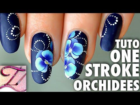 Tuto nail art orchides one stroke youtube tuto nail art orchides one stroke prinsesfo Choice Image