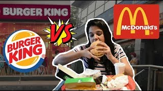 McDonald's VS Burger King India | Burgers, Fries, Employment and more