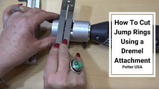How To Cut Jump Rings Using a Dremel Attachment