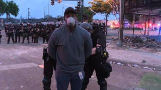 CNN reporter and crew arrested on air in while covering Minneapolis riots | FULL INCIDENT