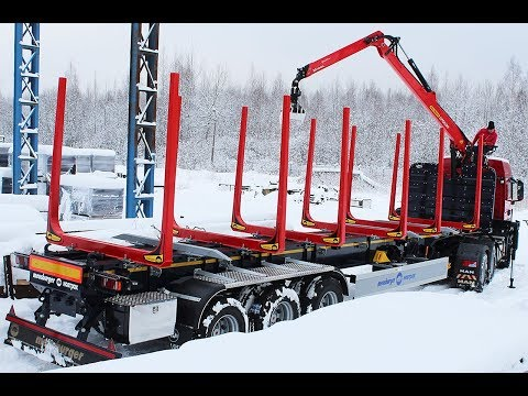 Полуприцеп-сортиментовоз SH-368 от Meusburger Новтрак совместно с тягачом MAN TGS 33.440 6X4 BLS-WW