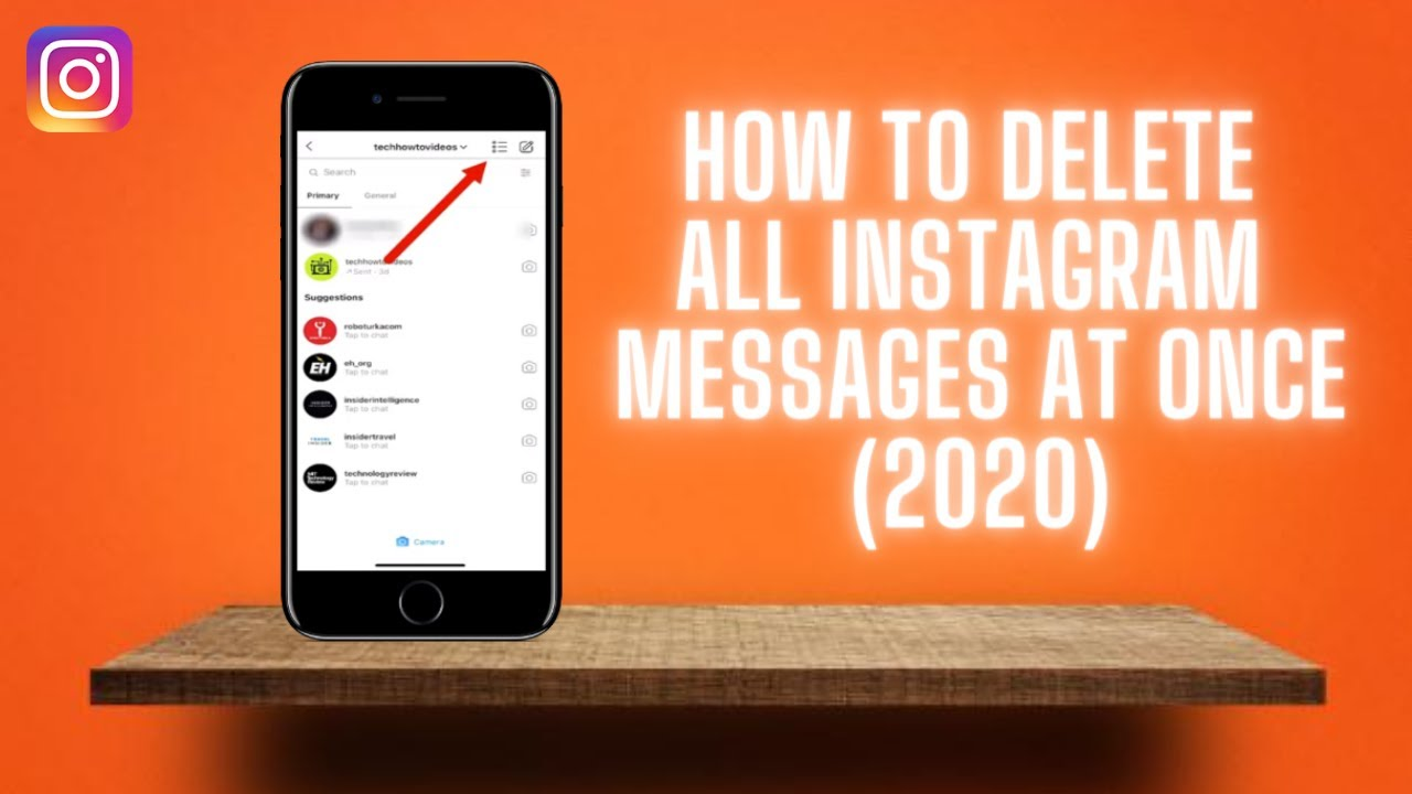 How To Delete All Instagram Messages At Once (11) ✅ Delete All Instagram  DMs FAST!