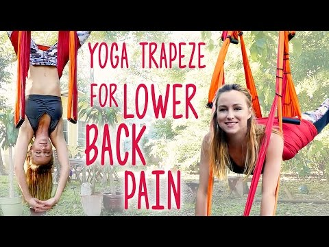 Back Pain Relief with Inversion Therapy, Yoga Trapeze Tutorial At Home, Yoga Routine for Back Pain