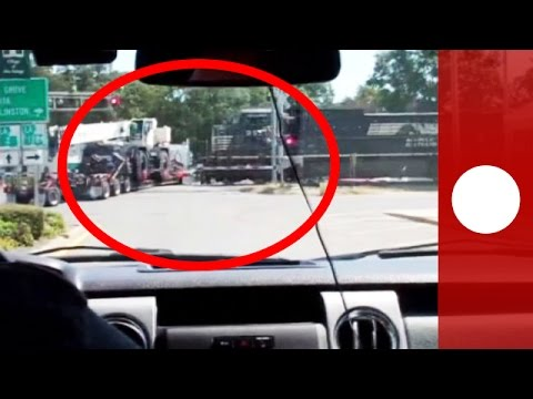 Watch: Train collides with truck stuck on tracks in Mer Rouge, Louisiana