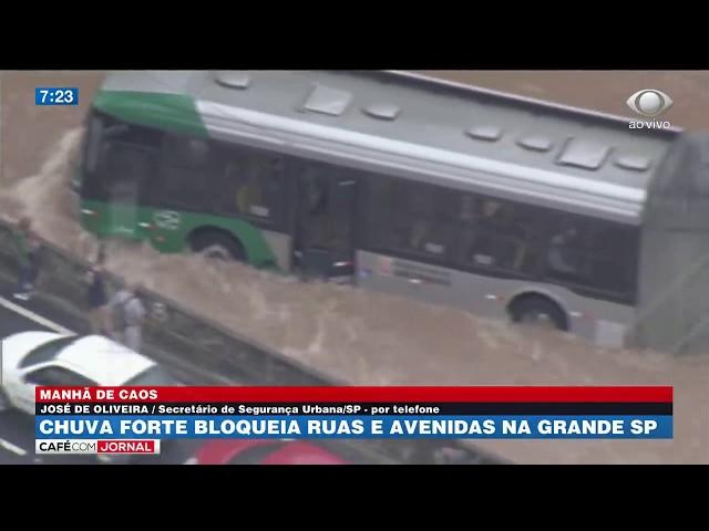 Prefeitura de SP suspende rodízio depois de forte temporal