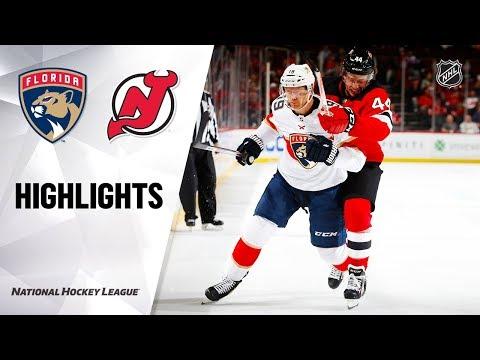 NHL Highlights   Panthers @ Devils 10/14/19