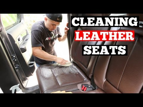2 methods on how to clean leather car seats auto detailing training series leather car. Black Bedroom Furniture Sets. Home Design Ideas