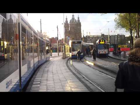 Public transport trip in Amsterdam by GVB