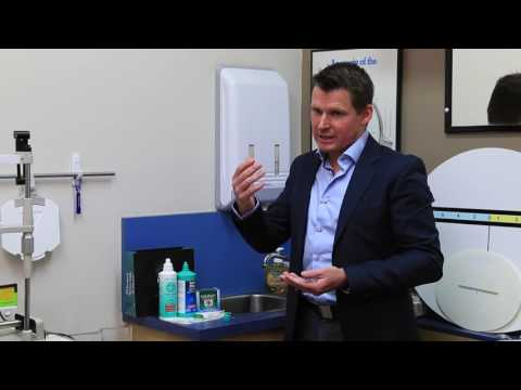How to clean your ortho-k and RGP contact lenses with MENICARE solutions @ MARK HINDS OPTOMETRISTS