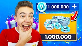 I BUY 1,000,000 V-BUCKS on FORTNITE! 🤑🦅