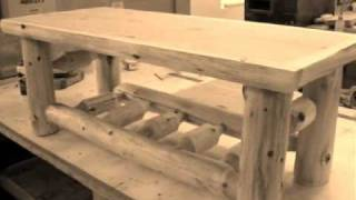 The Log Furniture Store - Cedar Log Coffee Table