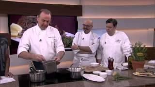 Pan roasted branzino and white beans