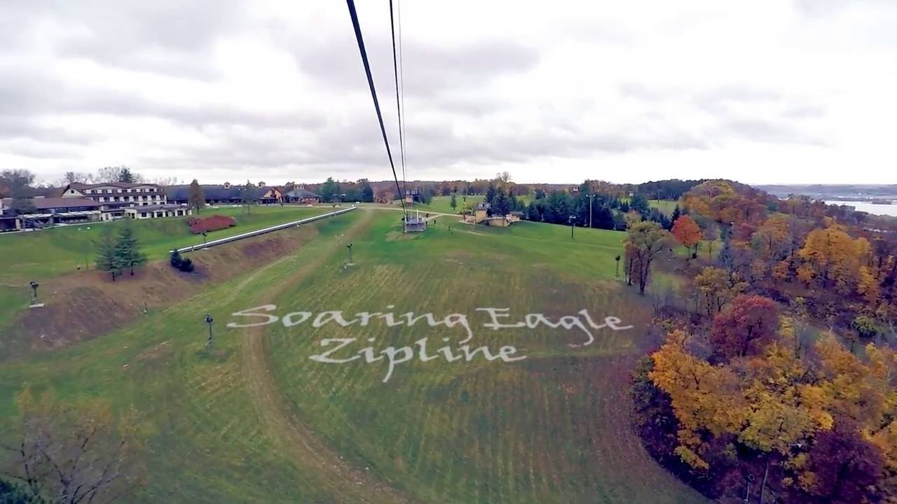 chestnut mountain resort soaring eagle zipline - youtube