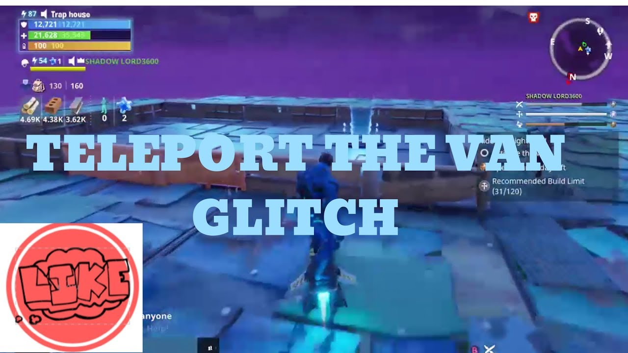 Teleport The Van Ride The Lighting Glitch Fortnite Save The World