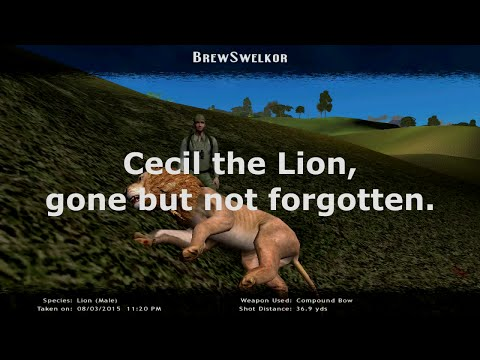 Cecil the Lion Hunt Recreation- Hunting Unlimited 2010