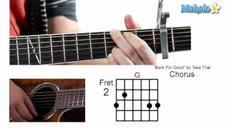 How To Play Back For Good By Take That On Guitar