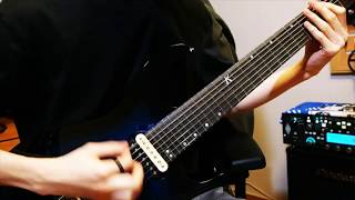 [Kiesel A7H Tone Test] 【G.O.D.II】 Seku - Skyphobia (Intro Part Guitar Cover)