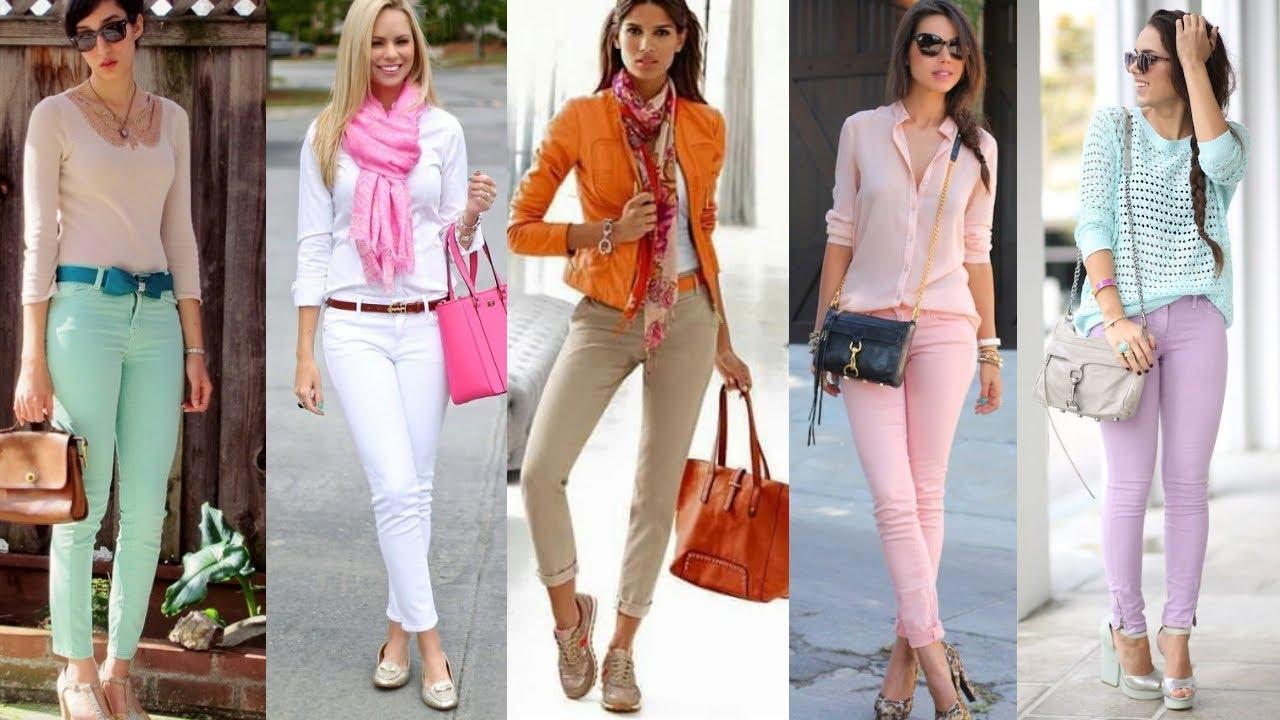 Pantalones De Moda Y Tendencias 2021 Pantalones Jeans De Colores 1 Moda Y Tendencia 2021 Outfits Youtube