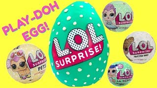 LOL Surprise Play-Doh Egg with LOL Pets & LOL Glitter Series