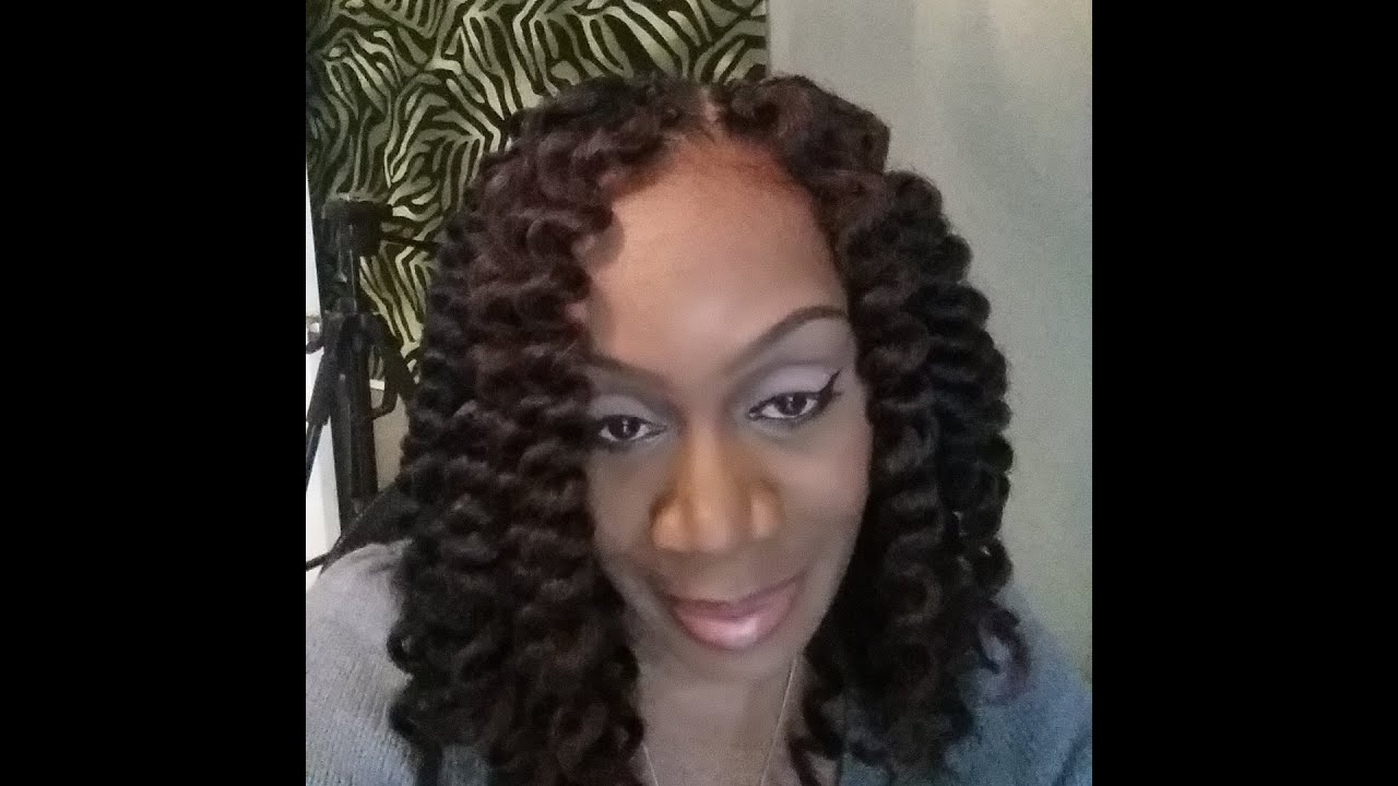 Pre-Dipped & Curled Crochet Braids w/Marley Hair Part 1 - YouTube