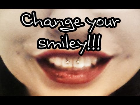 how to change your smiley piercing