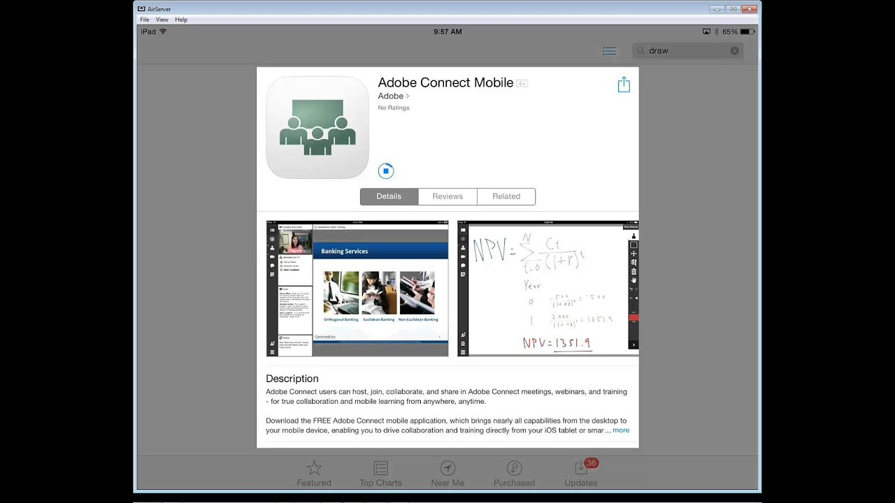 Download and Install the Adobe Connect App on an iPad