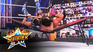 Dominik Mysterio slams Seth Rollins through a table: SummerSlam 2020 (WWE Network Exclusive)