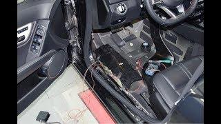 установка подсветки порогов Mercedes-Benz W204 Backlight lining threshold installation