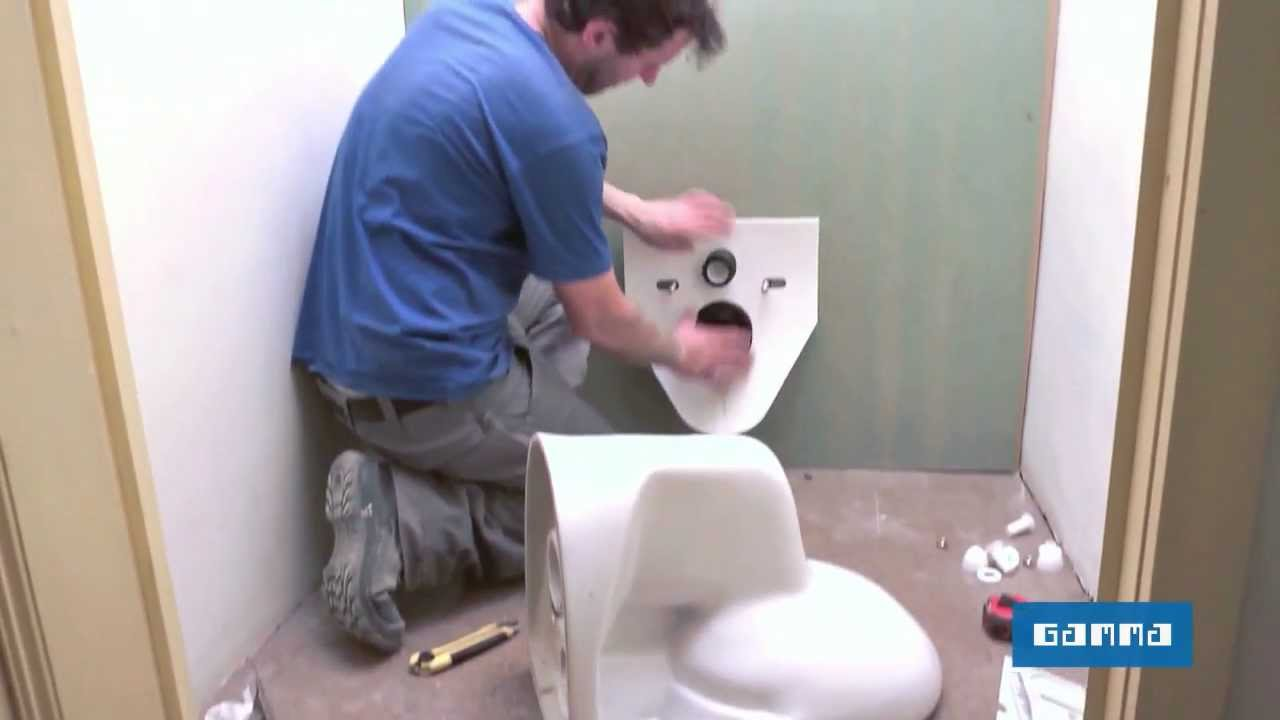 Installer Un Wc Suspendu Vid O Bricolage Gamma Belgique Youtube