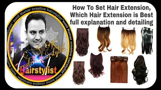 How to put the hair extensions on hair/ best hair extensions for Hairstyling/ hair extensions video