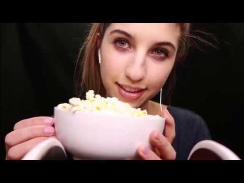 Feel Good ASMR ~ Popcorn Eating & Whisper Rambles :)