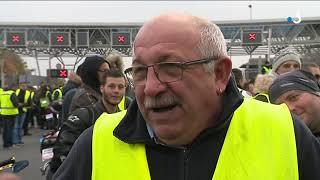 Gilets jaunes dans le Calvados: plus d'un millier de manifestants à Dozulé