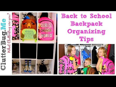 Back to School Backpack Organizing Tips