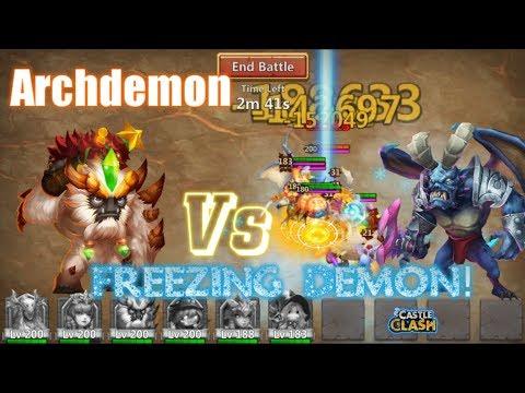 Sasquatch Vs Archdemon FREEZING ACTION - Castle Clash