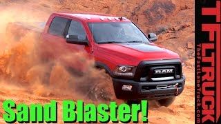2017 ram power wagon off road review sand and rocks in the valley of fire