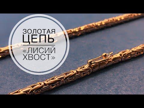 Золотая цепочка Лисий Хвост. Gold Chain
