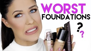WORST FOUNDATIONS FOR OILY SKIN! | FOUNDATIONS TO AVOID!!