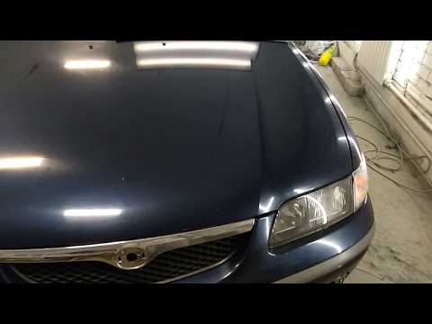 Ремонт вмятин без покраски Mazda 626  ( Capella )  1997 20180629 154545  часть 2