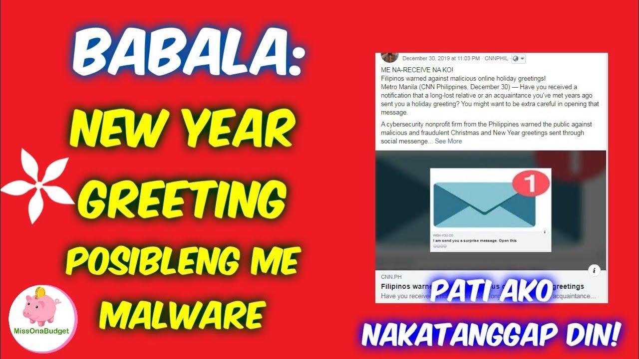 Babala tungkol sa New Year greetings sa FB Messenger na ...