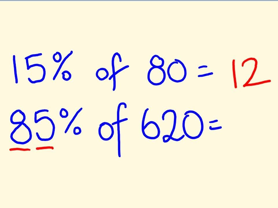 Percentage Trick Solve Precentages Mentally Percentages Made